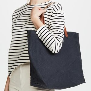Madewell canvas transport tote in Black Sea